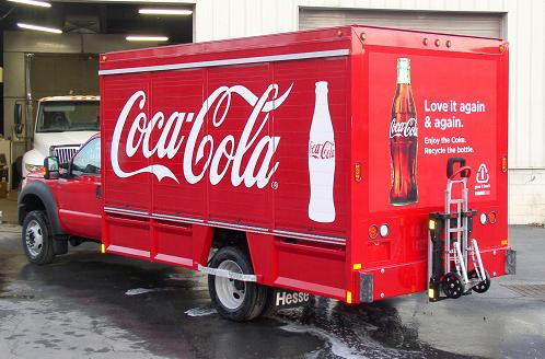Coca-Cola Ford F550 with Group Hesse Beverage Body